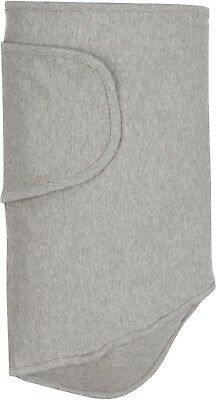 The Original Miracle Blanket Baby Swaddle, 100% Super Soft Cotton, Solid Gray