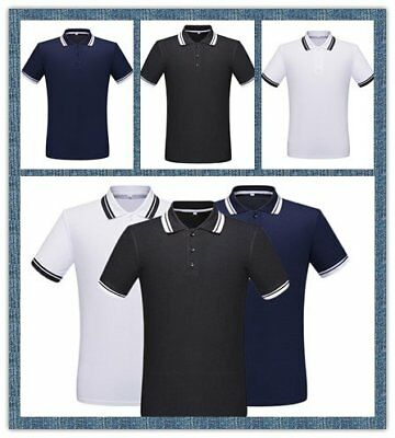 Mens Polo Shirt Cotton Contrast Tipped Sports Types  New T-shirt Tee Top 2018