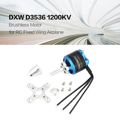 DXW D3536 1200KV 2-4S  Brushless Motor for RC Fixed Wing Airplane AircraftHQ