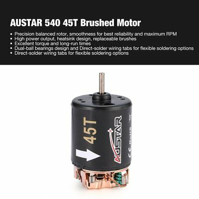 AUSTAR 540 45T Brushed Motor for 1/10 Axial SCX10 RC4WD D90 Crawler RC Car HQ