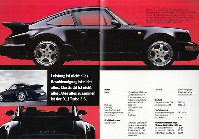 PORSCHE 911 993 964 Speedster Turbo 3.6 928 GTS 968 CS Prospekt Brochure 1993 S