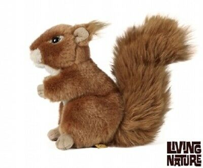 Living Nature Squirrel - An49 Plush Soft Red Cuddly Realistic Wildlife Kids Toy