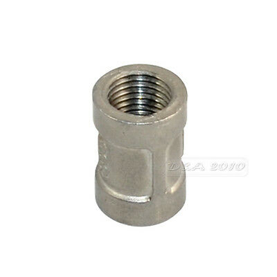 """1/4"""" to 1/4"""" F/F Couple Stainless Steel SS 304 Threaded Pipe Fitting BSPT 24mm L"""