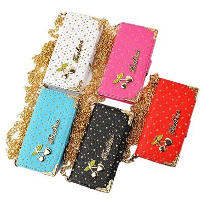 Star & Cherry Pattern PU Leather Flip Wallet Stand Cover Case for iPhone6S ZJ