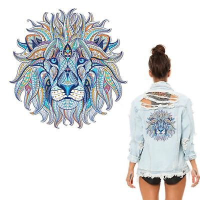 Iron-on Transfer Clothes Patches Cool 3D Lion King Stickers for Tops T-shirt Hou