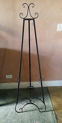 Easel black 157cm wedding easel picture stand