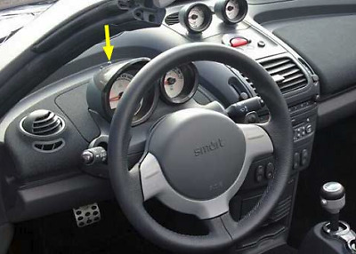 button Speedometer hours controll board smart roadster 452