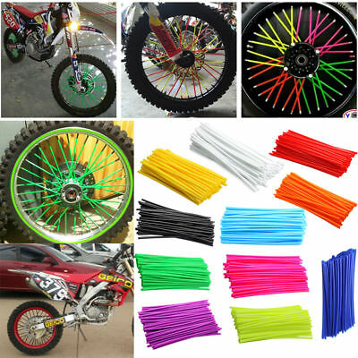36pcs Wheel Spoke Wraps Skins Cover Guard Protector Motorcycle Motocross Bike