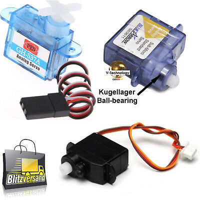 Servos, Digital, Kugellager, Analog ultra  micro servo 2g, 3,7g  RC Mini Servo