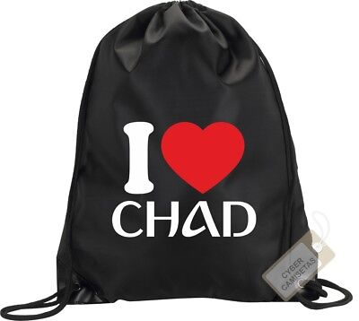 I Love Chad Mochila Bolsa Gimnasio Saco Backpack Bag Gym Chad Sport