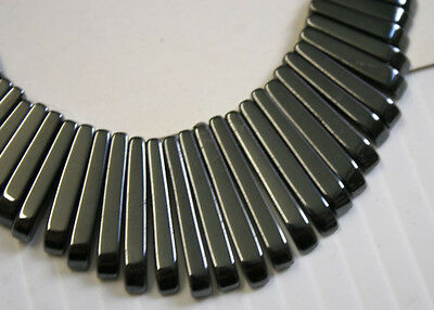 Lot Of Natural Haematite 41 Stick 10-30Mm Art Deco Necklace Jewellery Making N1D