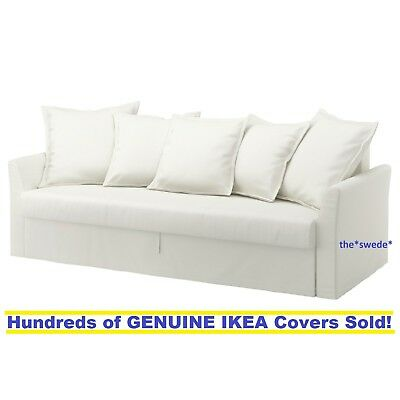 Ikea Holmsund Sleeper Sofa Bed 3 Seat Cover Slipcover Ransta White New In Box