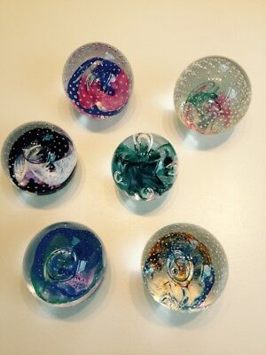 Bundle of six Caithness glass paperweights
