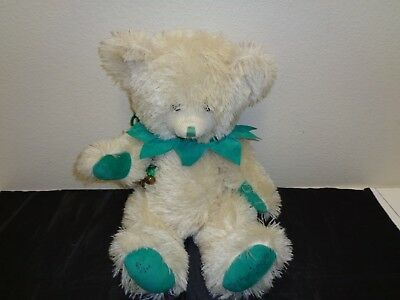 "CANTERBURY Bear Green Sleeves Mohair Limited Edition Signed 18"" w Tag"