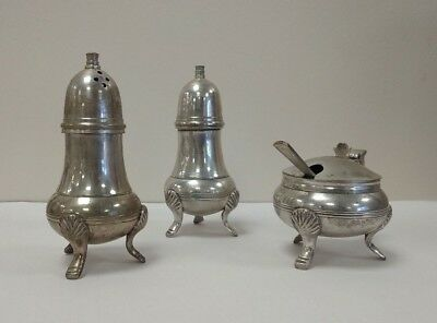 Antique Silver Plated SALT AND PEPPER Shakers set in original box