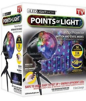 Christmas LED Projection w/ 114 Programs Remote Control Holiday light Decoration