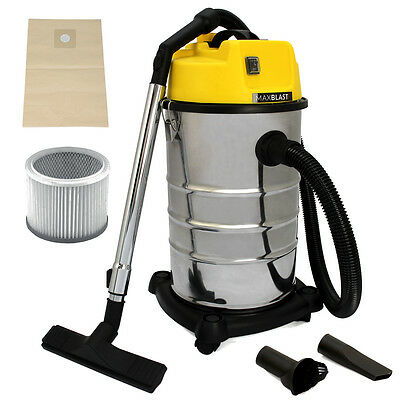 Vacuum Cleaner Industrial Wet & Dry Extra Commercial Stainless Steel 30L Hoover