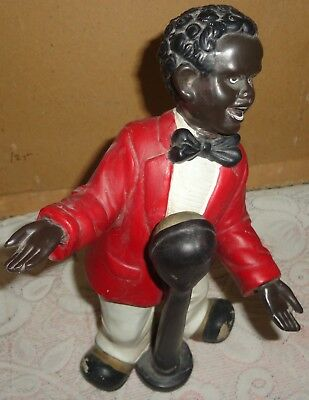 Vintage Old Collectible Antique Rare Early Period Black Man Statue Figurine