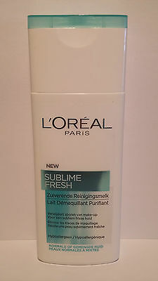 Lait Démaquillant Purifiant Sublime Fresh L'Oréal 200ml