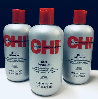 CHI Silk Infusion Reconstructing Complex by Farouk - 3 Pack (12 fl oz each)