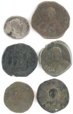 Lot of (6) Roman & Byzantine Empire Coins.