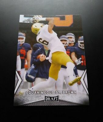 EQ Equanimeous ST. Brown Packers RC Rookie #23 Leaf Draft 2018 NFL Card