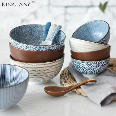 Japanese classical ceramic tableware kitchen soup noodle rice bowl 6 inch 8 inch