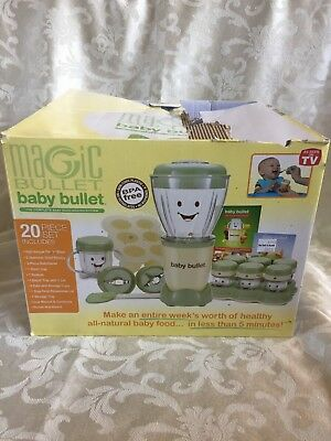 Magic Bullet Baby Bullet 20 PC Set Complete Baby Food Making System
