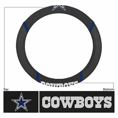 NEW Dallas Cowboys Steering Wheel Cover Universal Fit 14.5'-15.5'' Fanmat