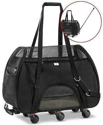 WPS Wheeled Airline Approved Pet Carrier for Small Pets USED JUST NEEDS A WASH