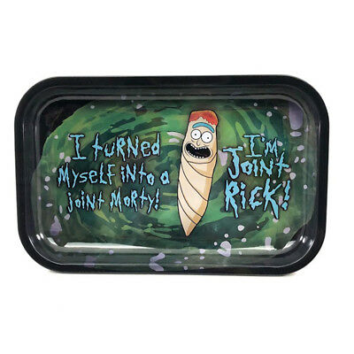 "Premium Rolling Tray Rick and Morty ""Joint Rick"" 7""x11"""