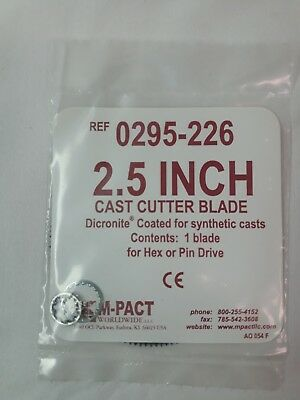 """NEW M-PACT 2.5"""" Cast Cutter Dicronite Coated Blade Hex or Pin Drive 0295-226"""