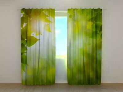 Curtain with Apples Print Wellmira Ready to Hang 3D Printed Kitchen Dining Room