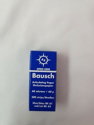 NEW BAUSCH Dental Articulating Paper Pre Cut Strips 60 Microns 300/pack