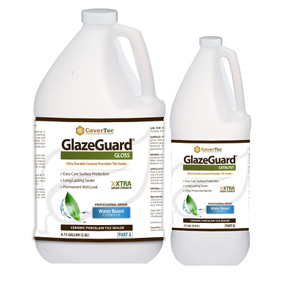 GlazeGuard Gloss Sealer for Ceramic, Porcelain, Stone Tile  Surfaces (1 Gal)