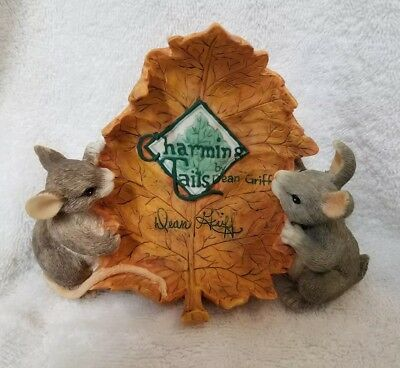 Charming Tails, display piece by Dean Griff., signed on bottom '98 NWT