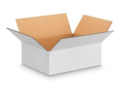 "50 WHITE BOXES POSTAL MAILING GIFT PACKET SMALL PARCEL CARDBOARD 15"" x 11"" x 5"""