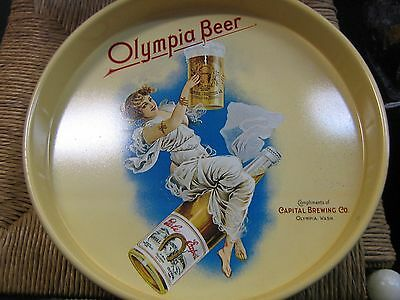 Vintage Olympia Beer Serving Tray~Capital Brewing Co. Olympia, Washington