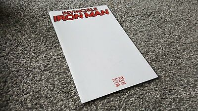INVINCIBLE IRON MAN Vol.2 #1 of 14 BLANK VARIANT (2015) MARVEL.SERIES