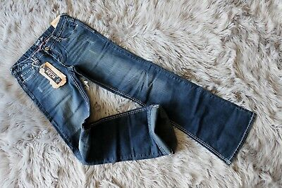"Brand New Amethyst Women Jeans Blue Low-Rise Flare W30""_L35"" Size 9 Tall"