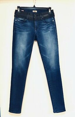 Pre-owned True Religion Halle Mid Rise Super Skinny Jean Women's Blue Size 26