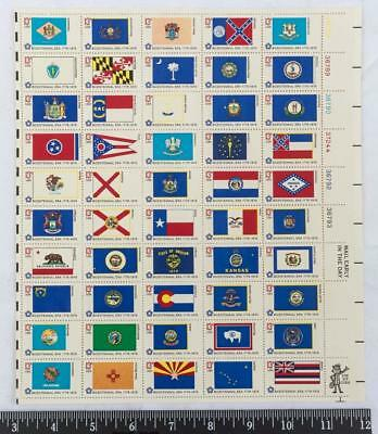 Bicentennial State Flags #1633-82 Full Mint Sheet of 50 Postage Stamps (g25)