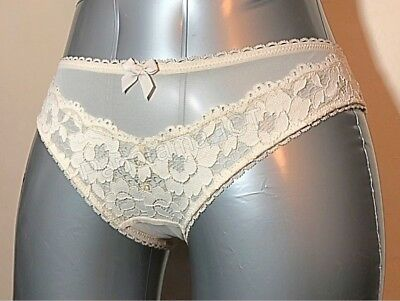 Ex M/&S Brazilian Knickers Cream or Pink 6-16 CLEARANCE