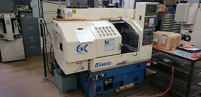 "Used Miyano LZ-01 CNC Turning Center Lathe Chucker Autoloader Fanuc 6"" Chuck '99"