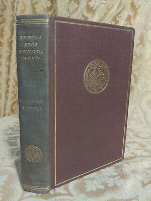 1922 Collections of Nebraska State Historical Society Antique Book NE History