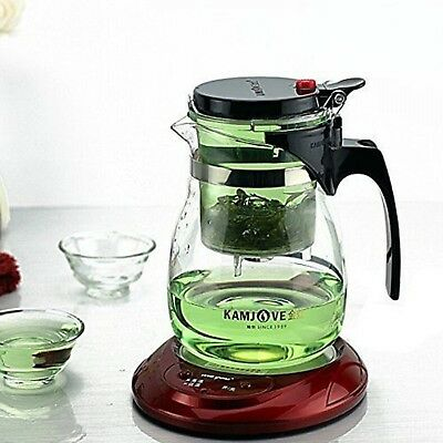 Glass Teapot Teaset Press Auto Open Art Cup Elegant Tea Pot With Infuser Coffee