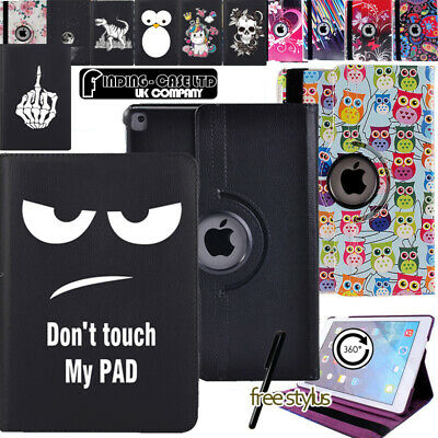 360° Rotating Leather Stand Case Cover for iPad 2 3 4  iPad Mini  iPad Air 1 2