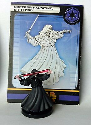 Star Wars Miniatures Emperor Palpatine Sith Lord #59 Revenge Sith painted wotc