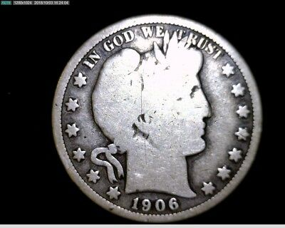 Nice 1906 P  Silver Barber Half Dollar Circulated  #LT321