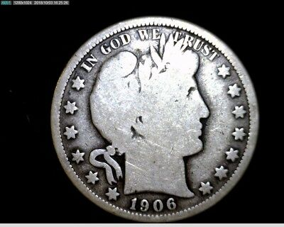 Nice 1906 O  Silver Barber Half Dollar Circulated  #LT323